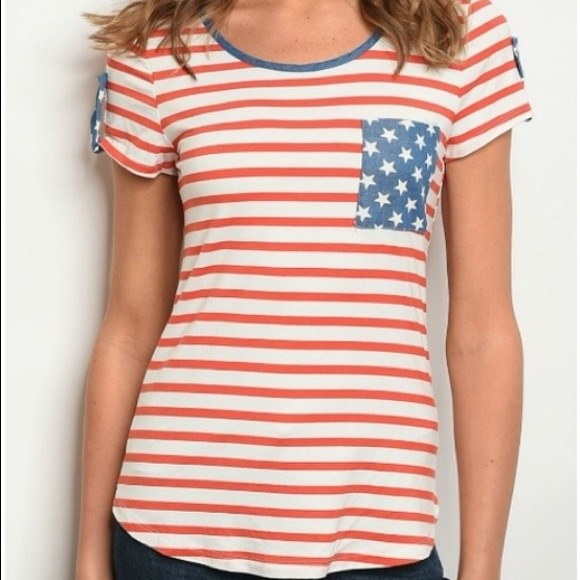 yoyo 5 Tops - 3 for $30 • Stars & Stripes Patriotic Pocket Tee